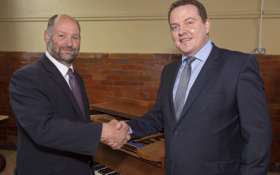 Ciaran takes over the baton at Wolverhampton Music Service