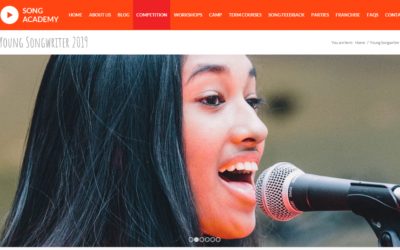 Young Songwriter 2019 – take a look at the website to hear all the entries and start preparing for 2020
