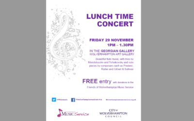 Wolverhampton Music Service Friday Lunchtime Art Gallery Concert Season Commences